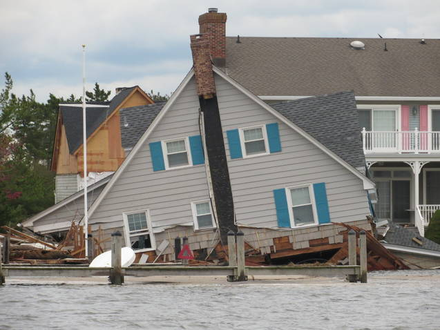 A Home Damaged by Hurricane Sandy